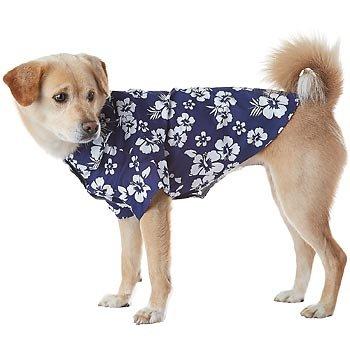 Petco Pup Crew Navy Hawaiian Dog Shirt, XX-Small: Amazon co