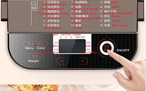 Machine de cuisson du pain Machine à pain Outils de cuisson 550w Eu Us Multifonction automatique Mini Machine à pain Intelligent Convivial