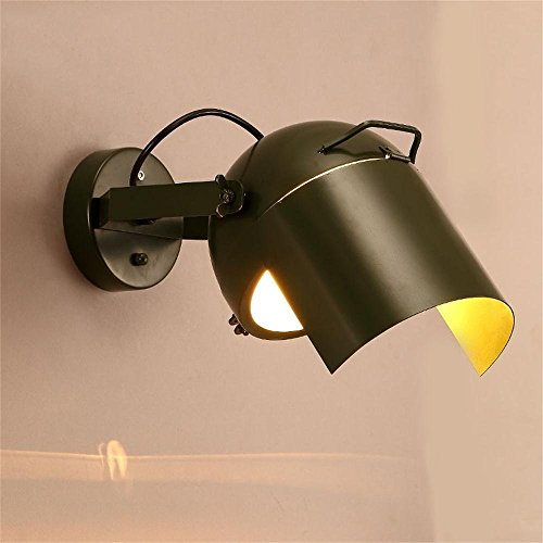 HOMEE Wall lamp- industrial wall disco ktv bar cafe retro iron corridor hallway bedroom bedside lamp --wall lighting decorations,Single Head by HOMEE