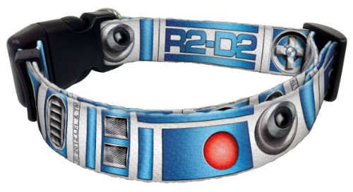 "Star Wars Blue & Gray R2-D2 Robot Dog Collar 8""-12"" x 5/8"""