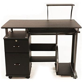 Amazon Com Computer Desk With Drawers Black Wood For Home