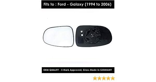 Ala Izquierda Pasajero Coche Espejo de Vidrio de Repuesto Convexo Ford Galaxy 1995-2006