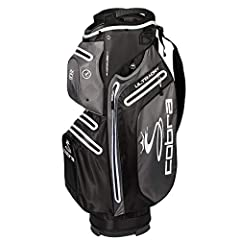 COBRA's KING Ultradry Cart bag is the perfect bag to keep all your golfing necessities dry and secure on course thanks to seven waterproof, seam-sealed zippered pockets. The bag also features a 15-way top with designated full-length club divi...