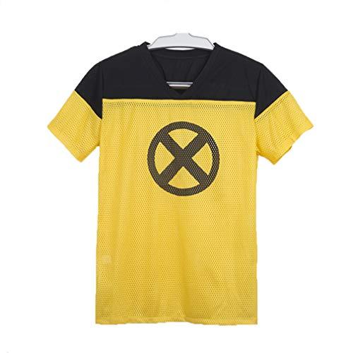 (Yacn 2018 Movie Deadpool T Shirt,Deadpool Short Sleeve Cosplay, Deadpool 2 Costume Tees)