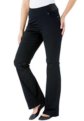 Black Plus Bootcut Jean - 7