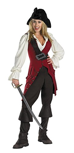 [UHC Women's Disney Deluxe Pirates Of The Caribbean Elizabeth Pirate Costume, L (12-14)] (Elizabeth Deluxe Adult Costumes)