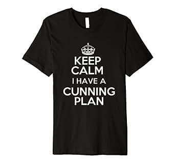 Mens Keep Calm - I have a cunning plan Blackadder inspired 2XL Black