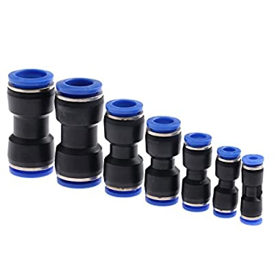 1pcs/5pcs Pneumatic Straight Union Connectors Push In Fittings For Air Water Tube 4mm-16mm
