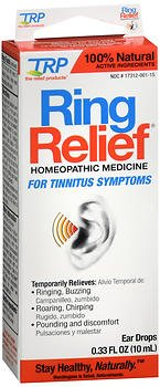 Ring Relief Homeopathic Ear Drops - 0.33 OZ, Pack of 3