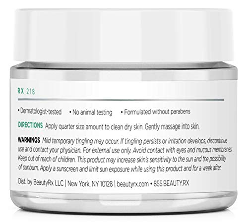 41cWuyZ7c%2BL - BeautyRx by Dr. Schultz Premium Anti Aging Face Cream for Fine Lines, Wrinkles & Dark Spots with 5% Glycolic & Hyaluronic Acid. Best Brightening Facial Night Moisturizer for Women & Men 1.7 oz