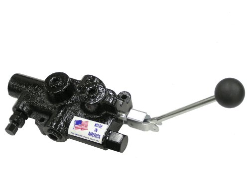 Prince Manufacturing LS-3060-1 Directional Control Valve, Log Splitter, 4 Ways, 3 Positions, Cast Iron, Lever Handle, 2750 psi, 25 GPM, In/Out: 3/4'' NPTF, 1/2'' NPTF Work, Gloss Black by Prince Manufacturing