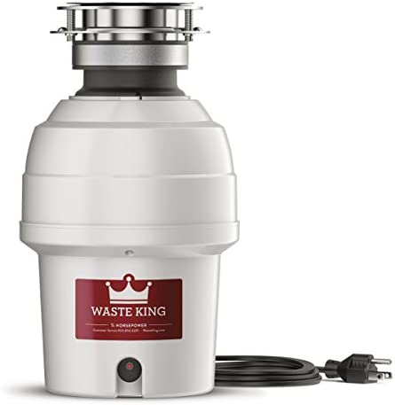 Waste King 9940 Continuous Feed Garbage Disposal with Power Cord, 3 4 HP