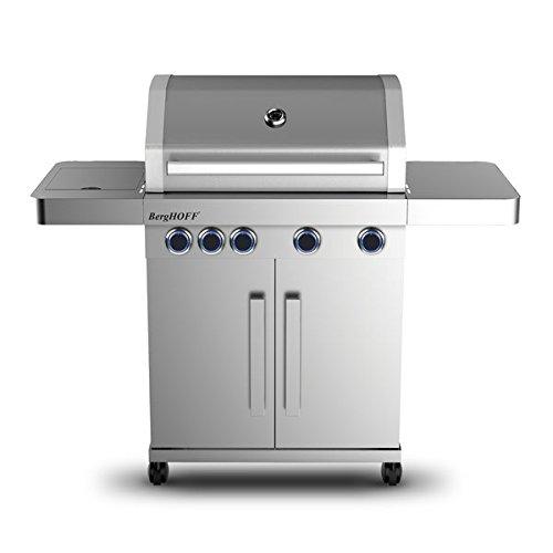 Berghoff 2415501 Outdoor-Küche mit 4 Flammen und Seitenflamme Edelstahl metall 60 x 138 x 118 cm 4 Einheiten