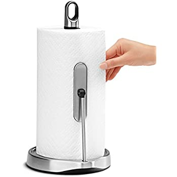 Amazon.com: Kamenstein Perfect Tear Paper Towel Holder, Stainless ...