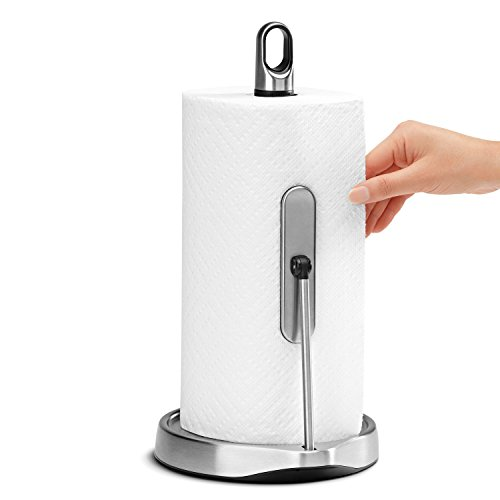 simplehuman Tension Arm Paper Towel Holder, Stainless Steel Stainless Steel Paper Towel