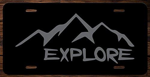 Explore Wanderlust Vanity Front License Plate Tag KCE027