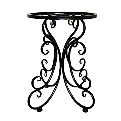 Looking back is the shore Multifunctional Creative Flower Pot Rack, Balcony Living Room Dining Room Hotel Inside and Outside (Color: Black): Garden & Outdoor