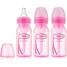Dr. Brown's Options Baby Bottles, 4 Ounce, Pink, 3 Count