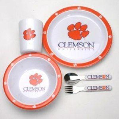 Duck House Clemson Tigers Little Sport's Dinner Set