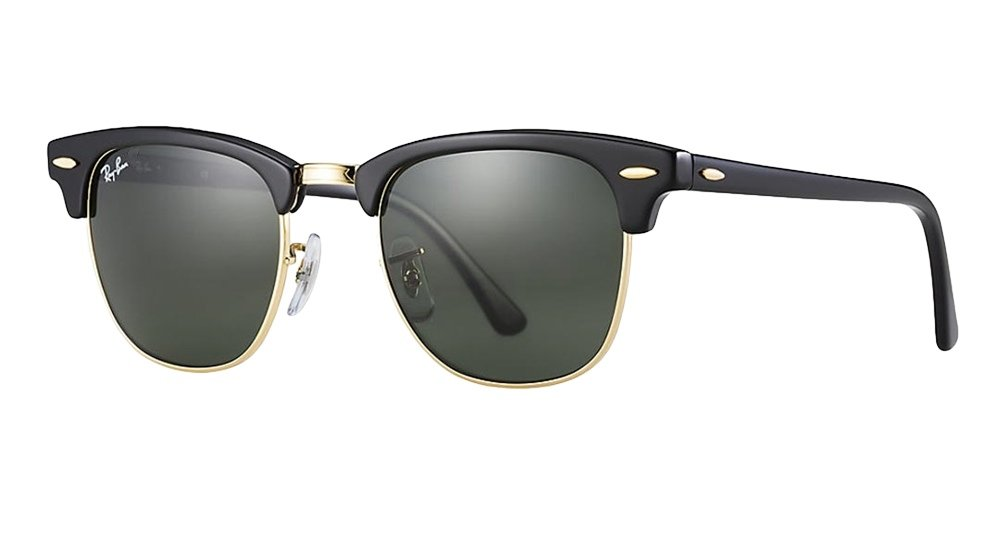 Ray-Ban RB3016 Clubmaster Sunglasses (51 mm, Solid Black G15 Lens) Ê by Ray-Ban
