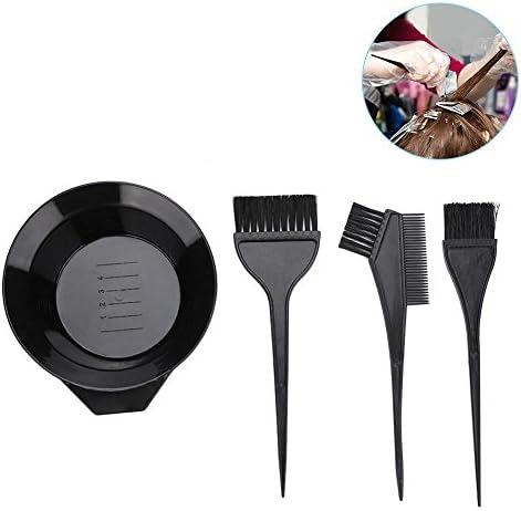 Kit de tinte para el cabello, cepillo para el cabello y juego de tazones 4Pcs profesional para cabello tinte para cabello Perming Tint Bleach Tools