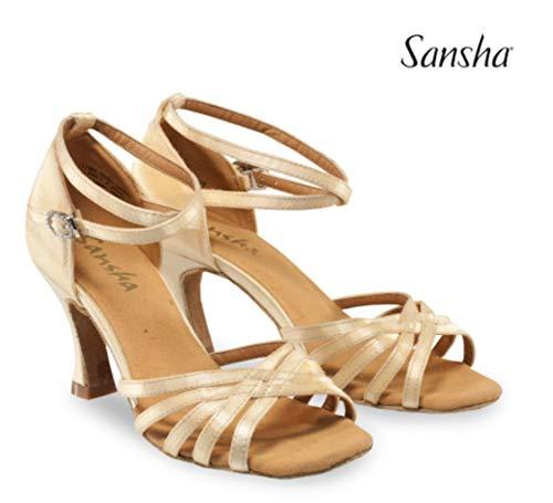 (SANSHA Ballroom Shoes, Regina (BR31034S) (6 (US 6-6.5), Black))