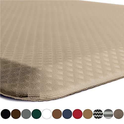 Kangaroo Original Standing Mat Kitchen Rug, Anti Fatigue Comfort Flooring, Phthalate Free, Commercial Grade Pads, Waterproof, Ergonomic Floor Pad for Office Stand Up Desk, 39x20, Beige