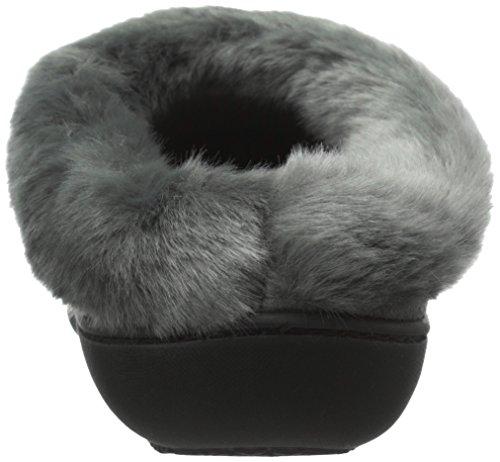 De Fluwelen Chantell W / Fur Collar Flat Ash Van Isotoner Dames