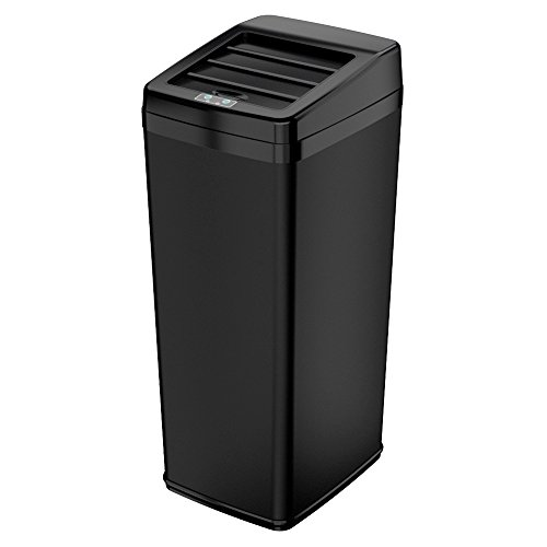 iTouchless 14 Gallon Space-Saving Touchless Trash Can SX, Bl