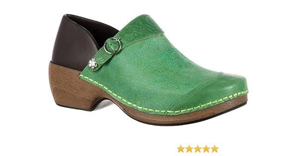 404b6dcb70d3d Amazon.com | 4EurSole Women's Western Embellished Leather Clog RKYH031 |  Shoes