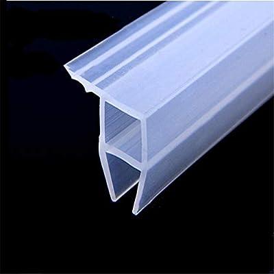 Junta Vierteaguas de Ducha Tira de vidrio sin marco y tira de sellado de ventana longitud 300 cm para espacio de 6-12 mm máximo 10 mm-10 mm: Amazon.es: Bricolaje y herramientas