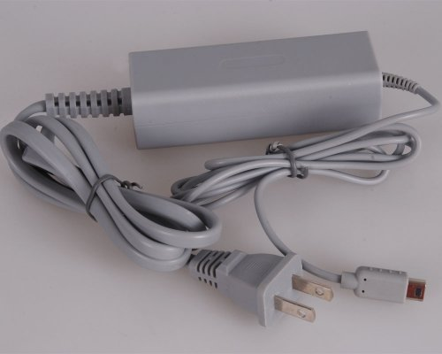DHSHOP Gray AC Power Adapter Charging Cable for Nintendo Wii U GamePad