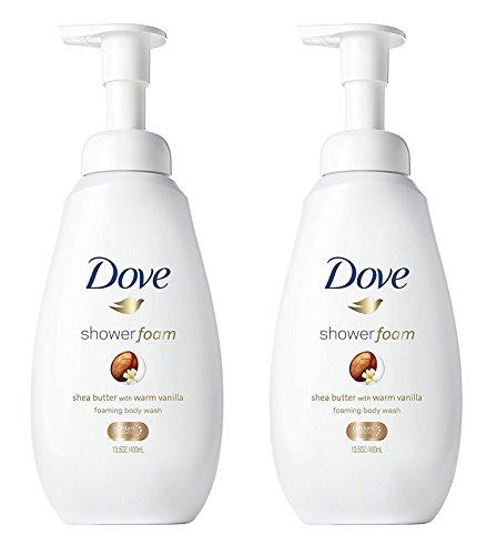 レッスンバウンド教育Dove シャワー泡 - ウォームバニラシアバター - - ボディウォッシュを発泡ネット重量。ボトルあたり13.5液量オンス(400ml)を - 2本のボトルのパック