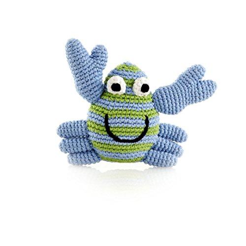 Pebble | Handmade Crab Baby Rattle—Blue | Ocean | Beach | Coastal | Crochet Baby Toy | Fair Trade | Machine Washable - Coastal Beans