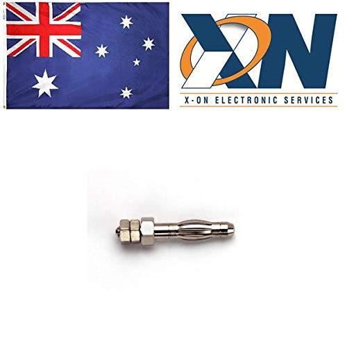 Test Plugs & Test Jacks 4mm Ban Plug with Threaded M3 Stud (5 pieces)