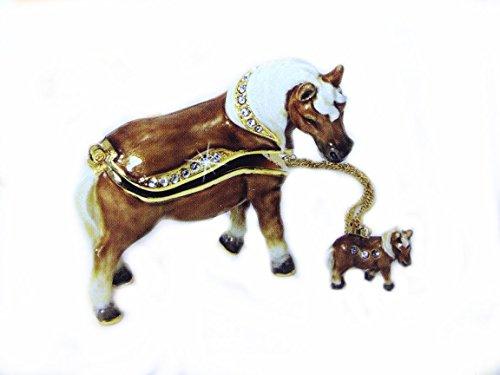 Miniature Horse Bejeweled Trinket Box ()