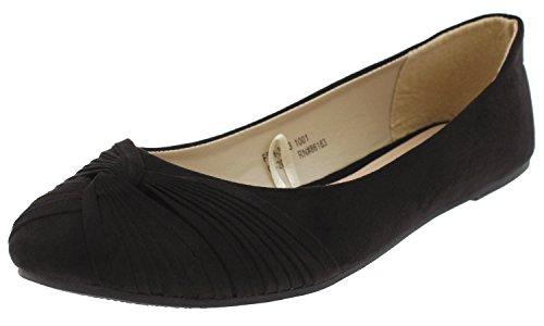 York Multi Capelli New Ladies Flats Black BYOBxf1wq