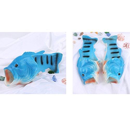 GUAngqi Fish Slippers Beach Shoes Non-Slip Sandals Animal Sandals for Women Men Kids,Men's - Blue by GUAngqi
