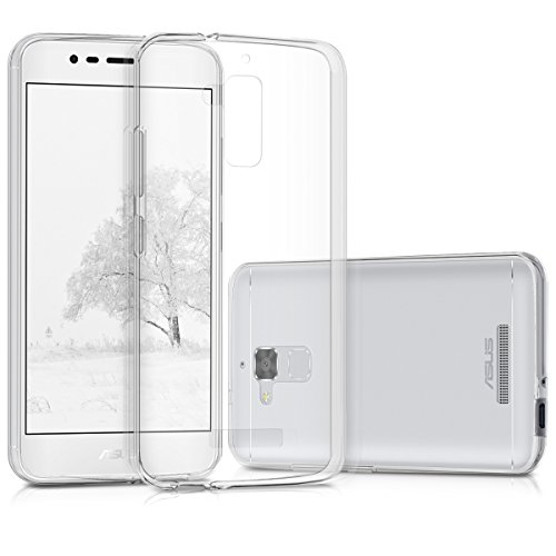 kwmobile Crystal Case for Asus ZenFone 3 Max (ZC520TL) - Soft Flexible TPU Silicone Protective Cover - Transparent