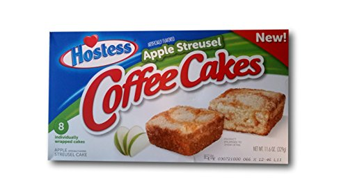hostess coffee cake hostess coffee cakes one box with 8 snack cakes apple 4852