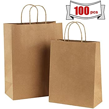 Amazon.com: BagDream Kraft Paper Bags 5x3x8& 8x4.25x10& ...