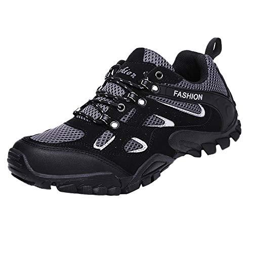 Caminar Hombre Para Al Libre De Malla Zapatos Zapatillas Respirable Deporte Negro Antideslizantes Aire Jiameng Entrenamiento ZWxRFnB