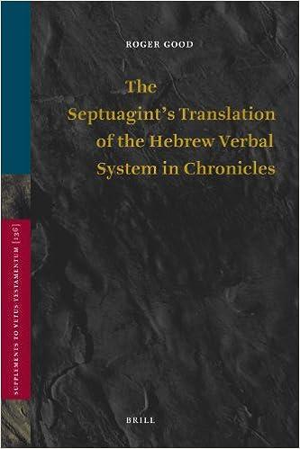 Gratis bøger til dummies downloades The Septuagint's Translation of the Hebrew Verbal System in Chronicles (Supplements to the Vetus Testamentum) på Dansk PDF iBook