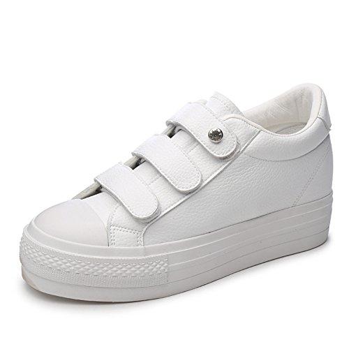 Ciabatta Da Donna Nascosta Altezza Crescente Slip On Sneaker Sneakers Casual Moda Sportiva Bianca
