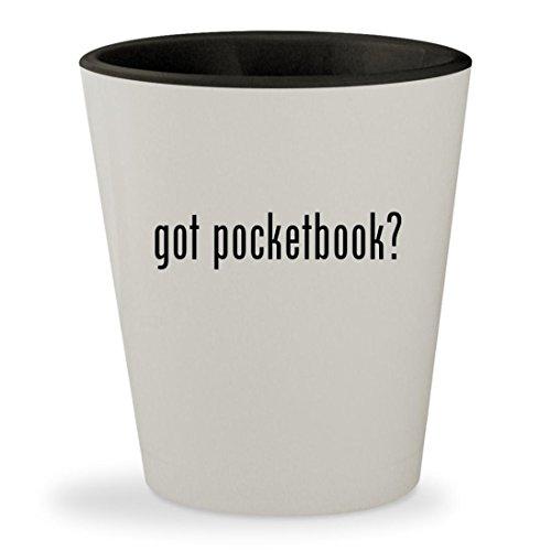 got pocketbook? - White Outer & Black Inner Ceramic 1.5oz Sh