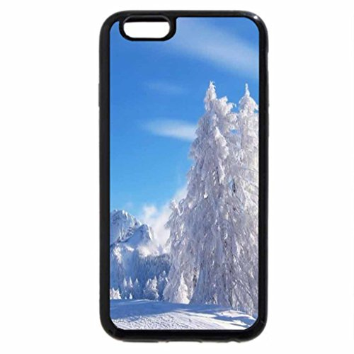 iPhone 6S Case, iPhone 6 Case (Black & White) - Crisp and cold