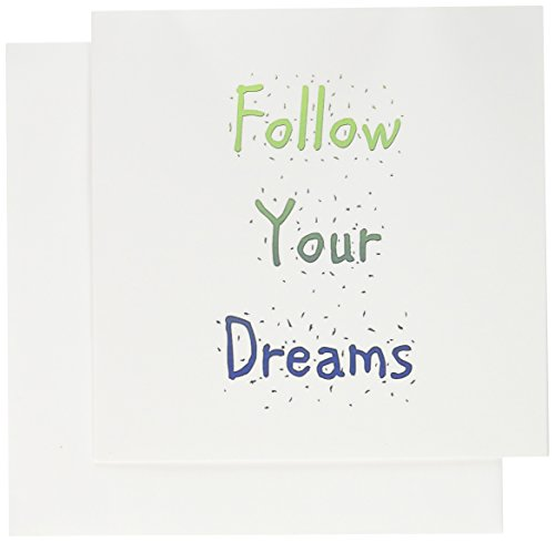 3dRose Whimsical Follow Your Dreams - Inspirational Greeting Cards, 6