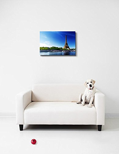 Seine in Paris with Eiffel Tower in Sunrise Time Home Deoration Wall Decor ing