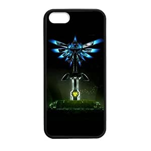 At-Baby Custom The Legend Of Zelda Durable Phone Case Cover for iPhone 5 5S inch Laser Technology TT1