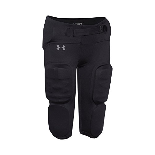Under Armour Boys' Integrated Vented Football Pants, Black /Graphite, Youth Large - Integrated Football Pants